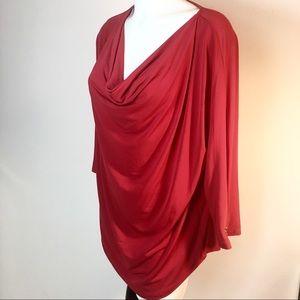 Michael Kors Draped Long Sleeve Blouse Women's